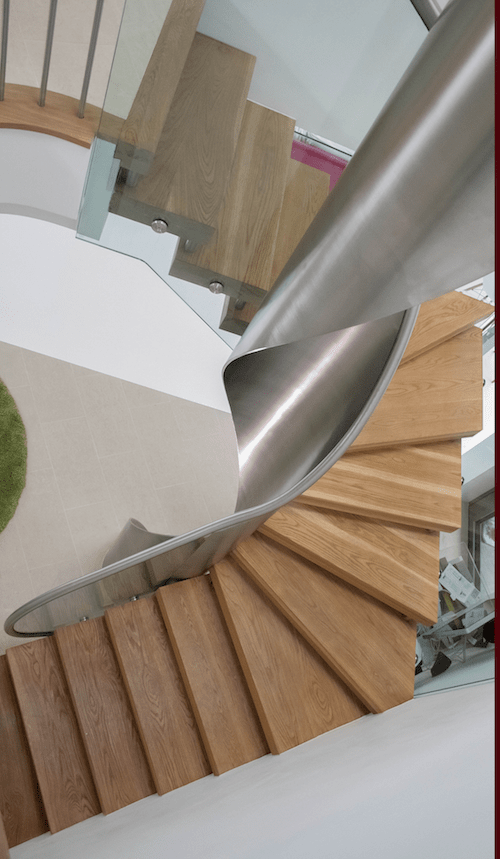 Handrails London - Image of a spiralled staircase to show the work the team does