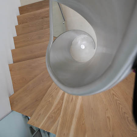 London Handrails - Image of a spiralled staircase made to the specifications of a client