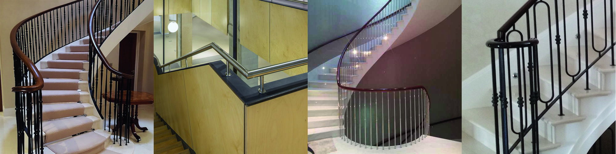 Images of metal Residential Handrails fitted in a variety of buildings